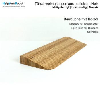 Türschwellenrampen aus Massivholz für Saugroboter - Baubuche mit Holzöl