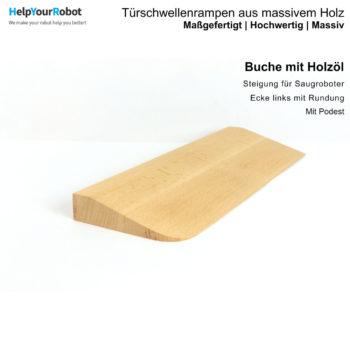 Türschwellenrampen aus Massivholz für Saugroboter - Buche mit Holzöl