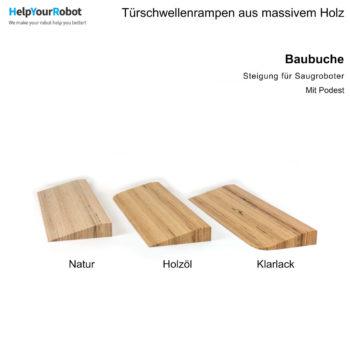 Türschwellenrampen aus Massivholz für Saugroboter - Baubuche
