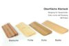 Türschwellenrampen aus Holz - Oberfläche Klarlack